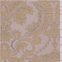 *3 3/8 YD PC--Pink Beige Silk Dupioni