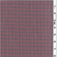 *3 YD PC--Terra Cotta Orange Plaid Flannel