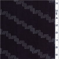 *2 1/2 YD PC--Black/White Slinky