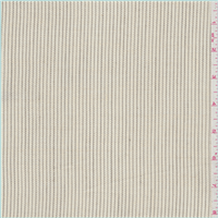 *6 1/2 YD PC--Cream Pinstripe Suiting