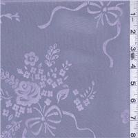 *1 YD PC--Lilac Floral Iridescent Taffeta