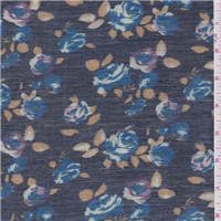 *5 YD PC--Indigo Blue Floral Shirting