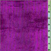 *3 1/4 YD PC--Hot Pink Stripe Metallic