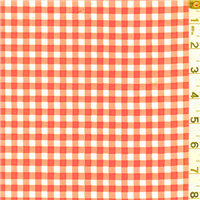 *1 1/4 YD PC--Orange Check Oilcloth