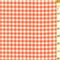 *2 YD PC--Orange Check Oilcloth