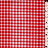 *1/2 YD PC--Red/White Check Oilcloth