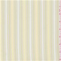 *1 3/4 YD PC--White/Gold Stripe Linen Look