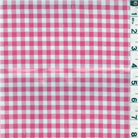 *5/8 YD PC--Pink Check Oilcloth