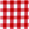 *1/2 YD PC--Red 1 Inch Gingham
