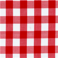 *1 1/8 YD PC--Red 1 Inch Gingham