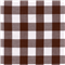 *1/2 YD PC--Brown 1 Inch Gingham