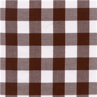 *3/4 YD PC--Brown 1 Inch Gingham