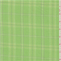 *3 YD PC--Lime Green Plaid Flannel