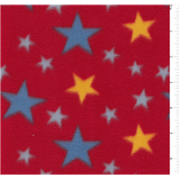 *2 3/8 YD PC--Multi Stars on Red Fleece