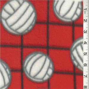 Orange Volleyball Fleece Bolt Mfp330 04 Discount Fabrics