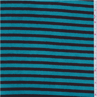 *2 3/4 YD PC--Turquoise Blue Stripe Velour