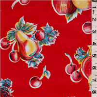 *1 YD PC--Red Fruit Oilcloth
