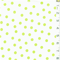 *5/8 YD PC--Green Dot Oilcloth