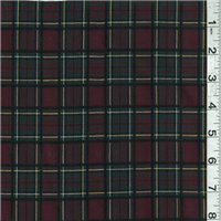 *5 YD PC--Brown Multi Plaid Suiting