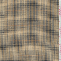 *3 1/4 YD PC--Gold Plaid Suiting