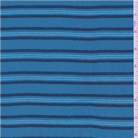 *2 1/2 YD PC--Aqua Blue Stripe Rayon
