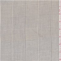 *3 YD PC--Grey Plaid Linen Suiting