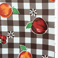 *4 YD PC--Brown Check Oilcloth