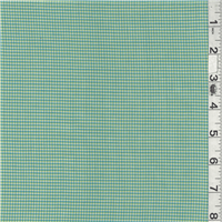 *3 3/8 YD PC--Lime/Turquoise Plaid Shirting