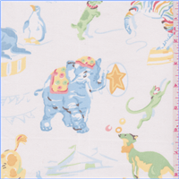 *3 YD PC--Ivory Circus Cotton Twill
