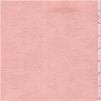 *3 1/8 YD PC--Peach Floral Jacquard