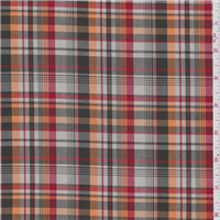 *3 5/8 YD PC--Brown/Orange Plaid Suiting