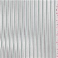 *3 3/8 YD PC--White/Jade Stripe Suiting