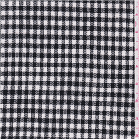 *2 3/4 YD PC--Black/White Check Suiting