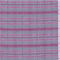 *2 3/4 YD PC--Sterling Grey/Fuschia Plaid Flannel