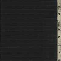 *1 1/2 YD PC--Black Stripe Suiting