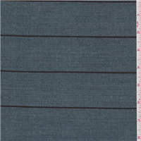 *2 1/2 YD PC--Teal Green Stripe Linen