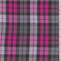 *3 YD PC--Hot Pink Plaid Suiting