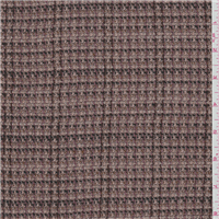 *1 3/8 YD PC--Pink Clay/Brown Suiting