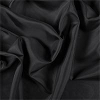*4 YD PC--Black Silk Habotai