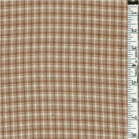 *2 YD PC--Tan/Cream Plaid Suiting