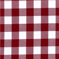 *1 YD PC--Burgundy 1 Inch Gingham