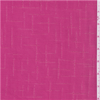 *4 1/2 YD PC--Hot Pink Check Suiting