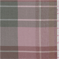 *4 5/8 YD PC--Pink/Brown Plaid Suiting