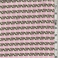 *3 3/8 YD PC--Brown/Pink Plaid Cotton Suiting