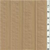 *3 1/2 YD PC--Dark Tan Stripe Suiting