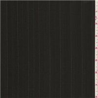 *1 3/4 YD PC--Midnight Brown Stripe Suiting