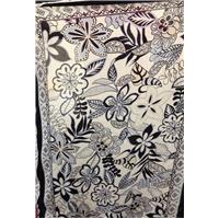 *2 PANELS--Navy/Ivory Print Lawn Panel