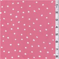 *3 YD PC--Salmon Pink Dot Chiffon