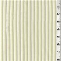 *4 YD PC--Ivory/Green Stripe Shirting