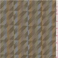 *3 1/4 YD PC--Olive Brown Stripe Cotton